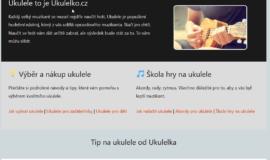 Prodej webu Ukulelko.cz